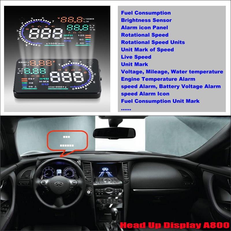 ФОТО For Infiniti QX60 QX70 QX80 2015 2016 Car Head Up Display Saft Driving Screen Projector - Refkecting Windshield
