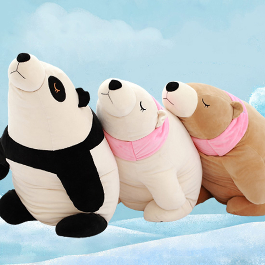Cute Stuffed Animal Toy Doll Cushion Super Soft Polar Bear Plush Peluches Children Animal Toy Pillow Kids Birthday Gift 70C0103 230cm super big king of forest simulation large tiger stuffed plush toy doll model sofa car animal cushion hold pillow kids gift