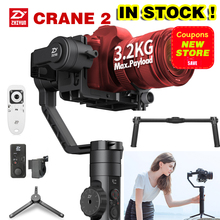 W magazynie Najnowszy Zhiyun Żuraw 2 Stablizer do LUSTRZANEK CYFROWYCH 3-osiowy Żyroskop Handheld Gimbal Kamery Wideo