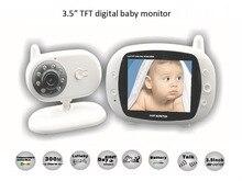 3.5 дюймов Беспроводной Аудио/Видео Baby Monitor Безопасности Камеры 2 Way Обсуждение Най Видения ИК СВЕТОДИОД Мониторинг Температуры с Колыбельными
