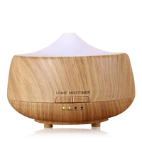 250ml Aroma Aromatherapy Humidifier 7 Color LED Wood Grain Essential Oil Diffuser Ultrasonic Air Purifier Mist