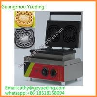Małej fabryki kitty kształt waffle maker z Hello kitty talerze i wafel maszyny w Waflownice od AGD na
