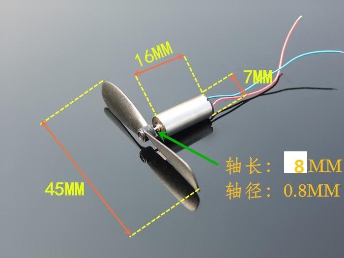 2 teile/los DC3.7-4.2V 716 7*16mm Micro DIY Hubschrauber Kernlosen DC Motor Mit Propeller Große Drehmoment Hohe Geschwindigkeit motor Verkaufen Zu Verlust