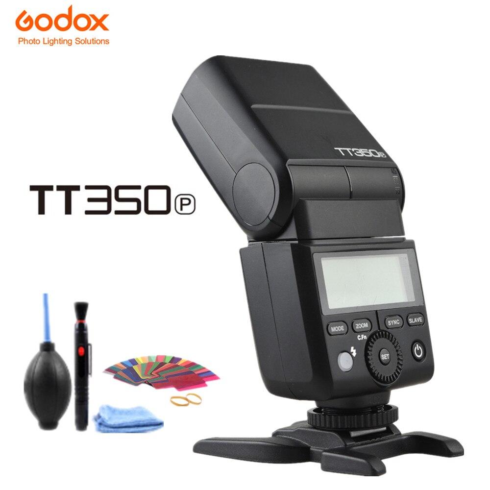 Godox Mini Speedlite TT350 TT350P Maître Caméra Flash TTL HSS GN36 Canal 16 pour Pentax 645Z K-3II K-1 KP K-50 K-S2 K70 Caméra