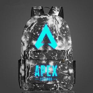 Image 3 - New Arrival Hot Game plecak APEX LEGENDS Luminous plecaki podróżne School