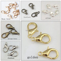 (100 pieces/lot) 12mm zinc alloy lobster clasp hook 502  silver gold antique bronze rhodium gun black rose gold  58-248