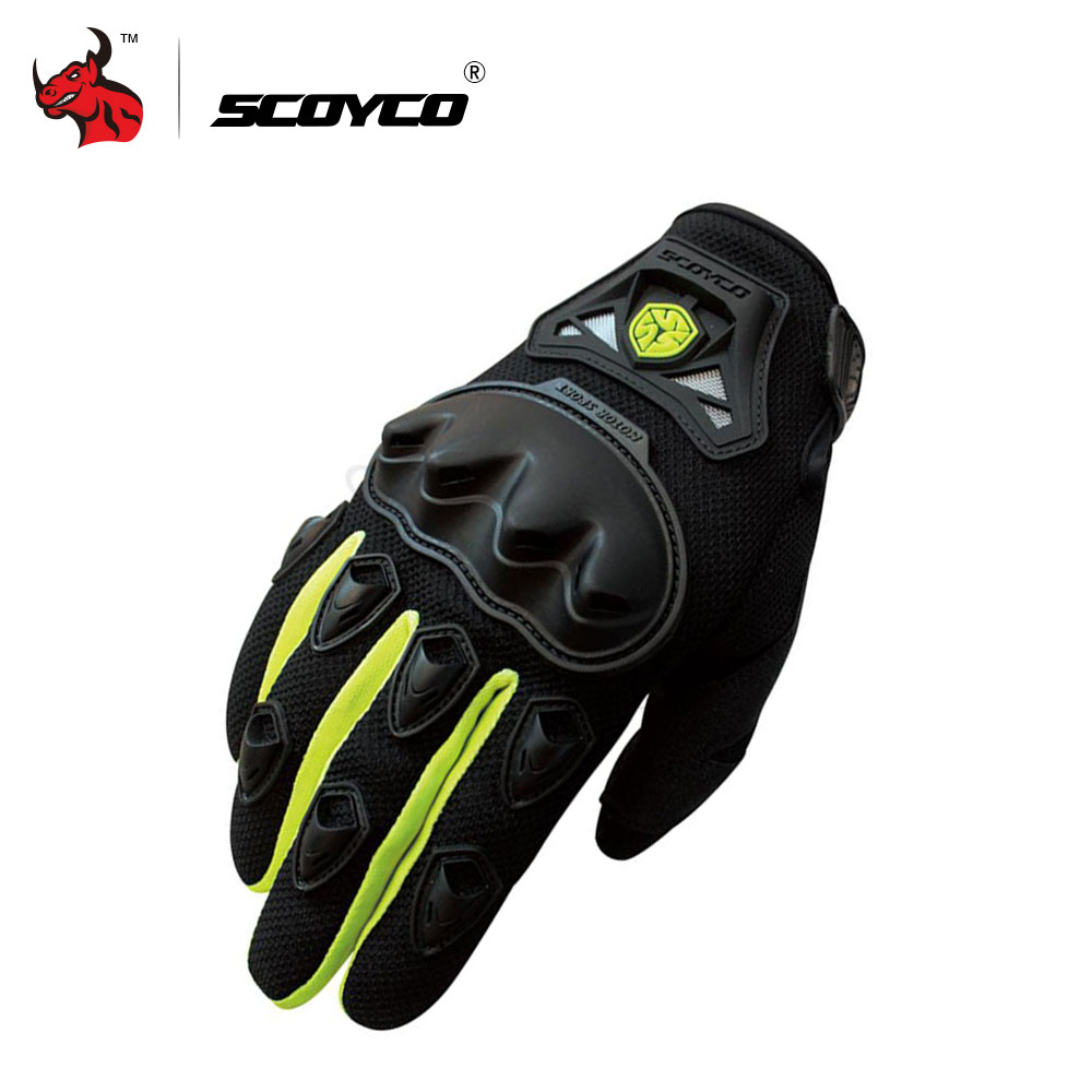 mama cao 's store SCOYCO Professional Motocross Off-Road Racing Full Finger Gloves Motorcycle Riding Gloves Protective Gear Outdoor Sports Guantes