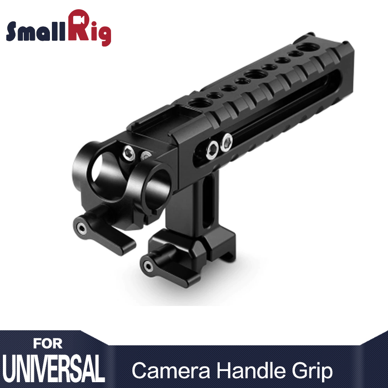 SmallRig Handheld Grip Top Handle Accessory Kit Multi Functional Camera Cheese Handle with Rod Clamp and