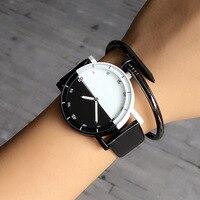 Casual Brand Waterproof Black White Couple Watches Tables Fashion Harajuku Analog Men Women Silicone Watch 2016
