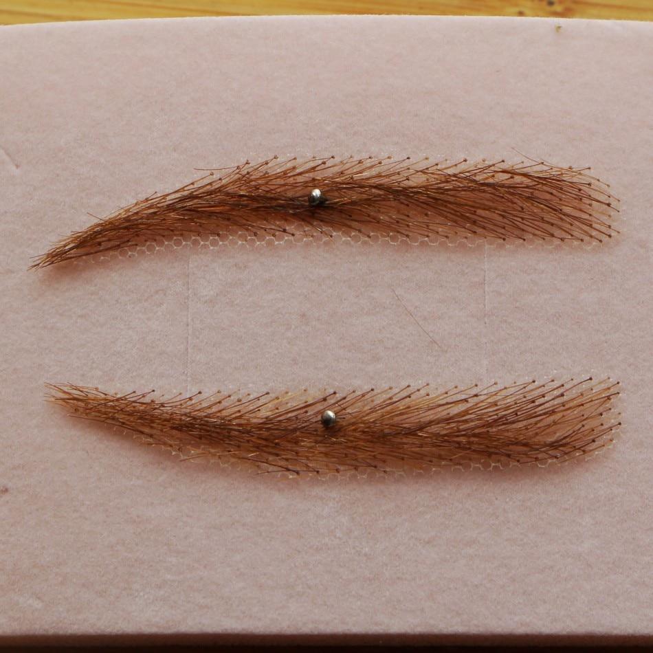 FXVIC 100 human hair eyebrow bow wig Alopecia chemo hairloss soft angled reusable 100 Human Hair