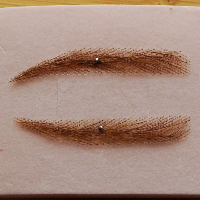 100 Human Hair Eyebrow Bow Wig Alopecia Chemo Hairloss Soft Angled