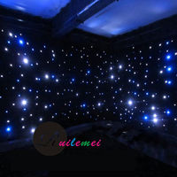 2Mx4M Wedding Backdrops Blue White Led Black Fireproof Velvet Wedding DJ Stage Star Curtain Backdrops Decoration