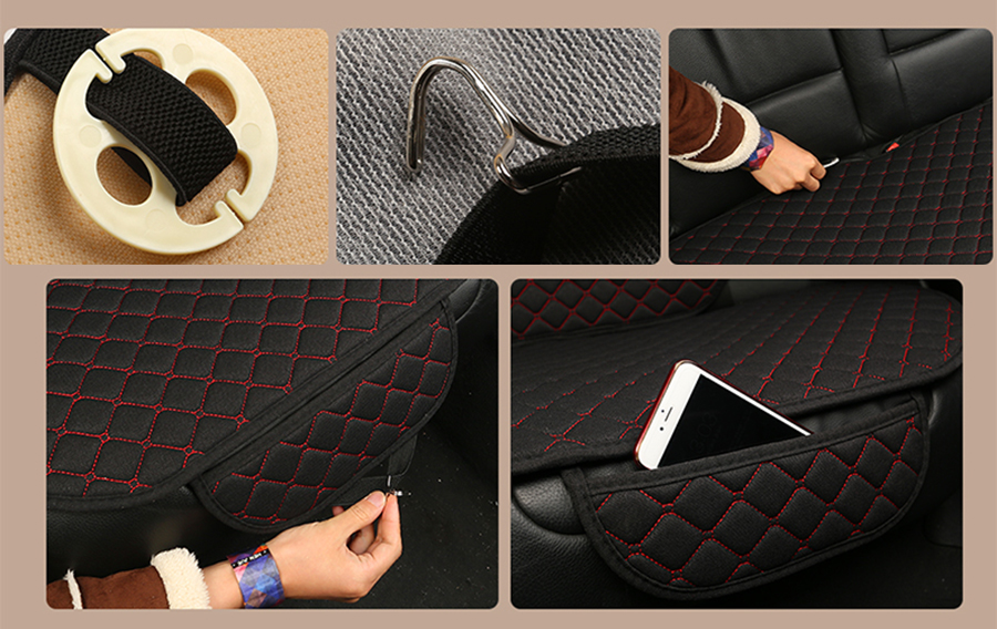 Linen Car Seat Cover Protector Linen Front Seat Back Cover 18