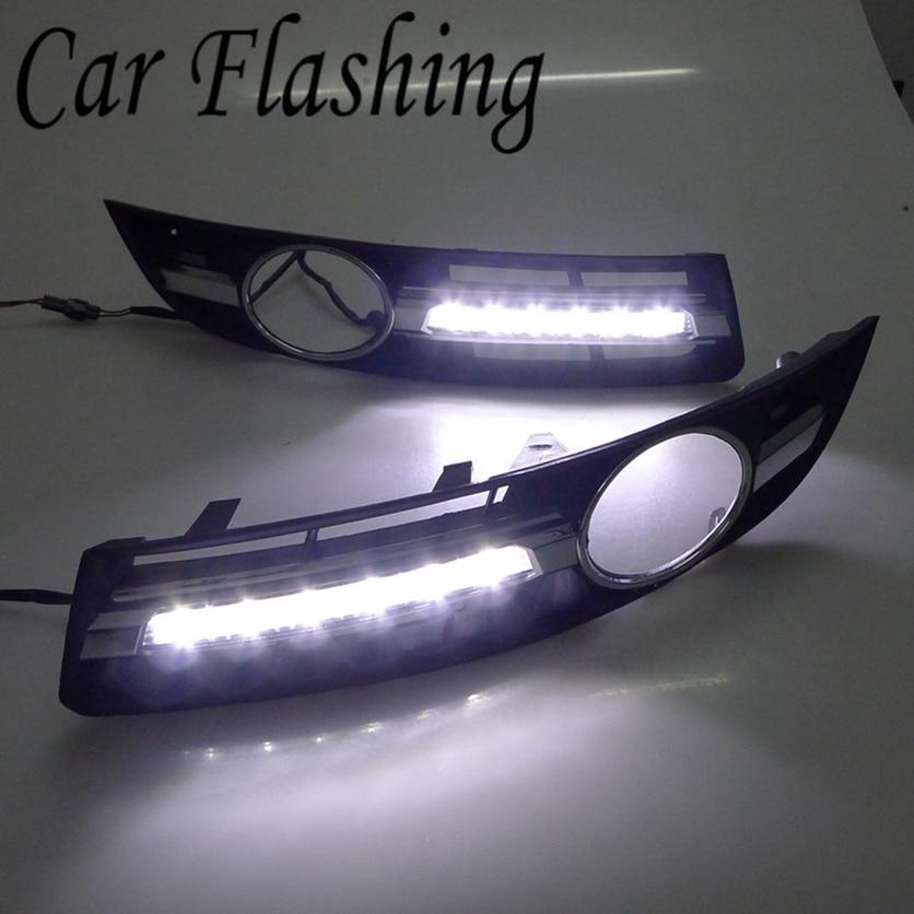 Car Flashing 2pcs for VW Volkswagen Passat B6 2007 2011 LED DRL Daytime Running Light Driving