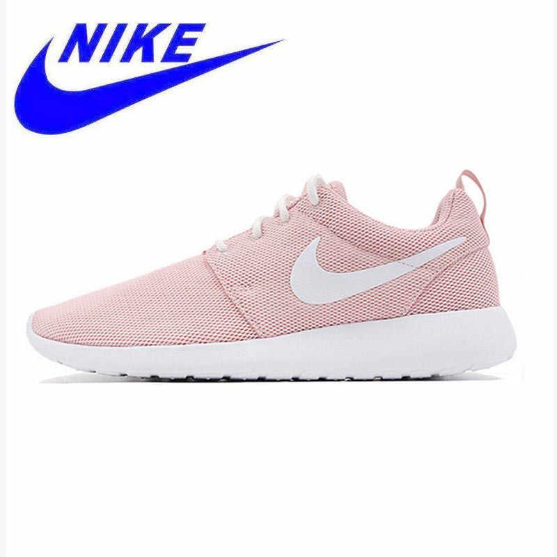 Новое поступление, оригинальные дышащие женские кроссовки Nike Roshe Run  One, спортивные кроссовки, Нескользящие d8ac934554a