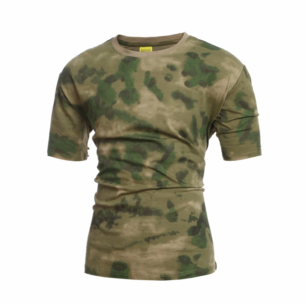 Men's Clothing T-shirts Lovely Tactical Military Camouflage V Neck T Shirt Men 2018 Brand New Army Combat T-shirt Men Short Sleeve Outwear Tops Tee Shirt Homme Cool In Summer And Warm In Winter