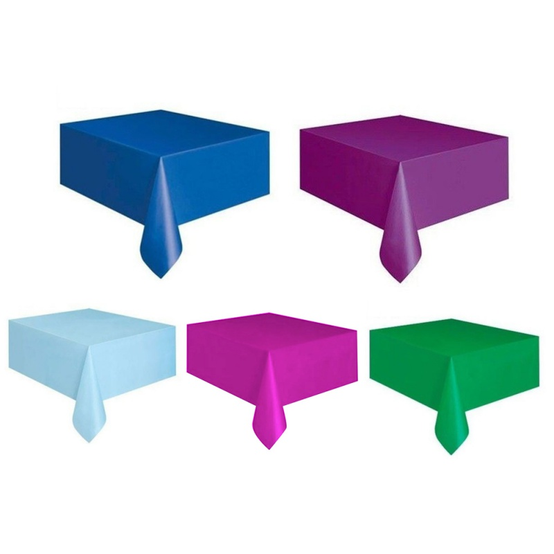 Great New Rectangle Table Covers Plastic Table Cloths Wedding Baby Shower Party  Decoration HOT(China (