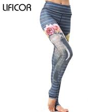 Leggings Women Fitness Yoga Pants Capri Workout Elastic Printing Sports Pants Running Gym Sportswear For Female Yoga Leggings