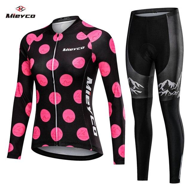 2020 ربيع المرأة طويلة الدراجات الملابس ملابس دراجة الجبلية روبا Ciclismo عاشق سباق نمط سريعة الجافة دورة الملابس مريلة سراويل قصيرة
