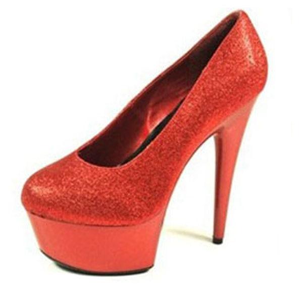 85bc3c10642d Flash powder bright red bridal wedding dress shoes