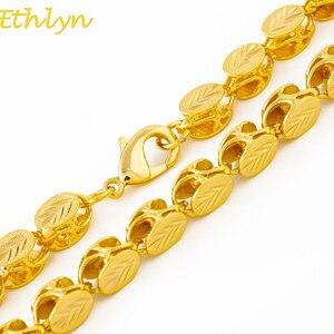 Image 1 - Ethlynブランド長さ60センチ/幅8ミリメートルエチオピア/eritreanジュエリーチェーン手作りゴールドカラー太いネックレス&チェーンn032
