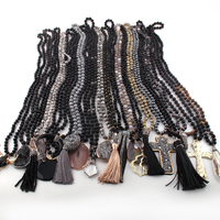 Wholesale Fashion 20pc Mix Color Black/Gray Necklace Handmade Women Jewelry M