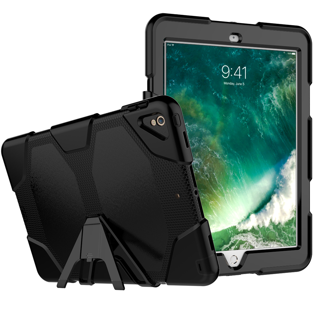 For iPad Pro 10.5 A1701/A1709 Kickstand Case,Heavy Duty Shockproof Rugged Armor Hard PC+Silicone Full Body Protect Cover foriPad дырокол deli heavy duty e0130
