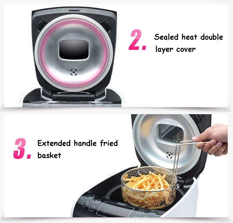Appareil de cuisson de gâteau de cuiseur à riz friteuse de pommes de terre 3 en 1