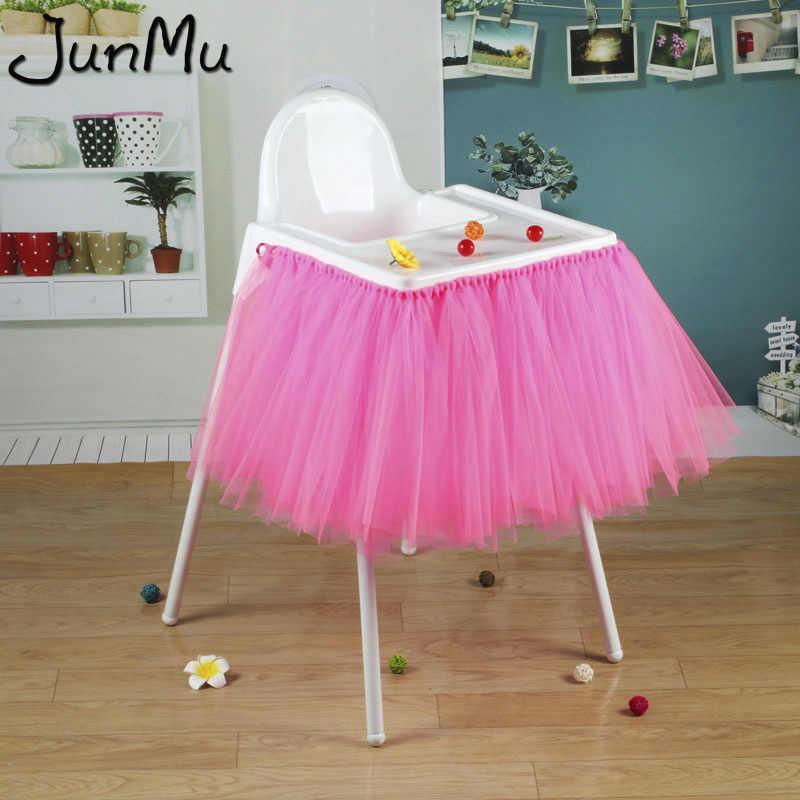 100 ซม.x 35 ซม.Tutu กระโปรงตาราง Tulle Baby Shower วันเกิดตกแต่งสำหรับเก้าอี้ Home สิ่งทอ Party Supplies