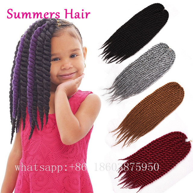 Pretwisted Havana Mambo Twist Crochet Braids Synthetic Braiding Hair Extensions Short Length Afro