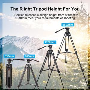 Image 4 - ASHANKS 0508A 5KG Professional Tripod camera tripod/Video Tripod/Dslr VIDEO Tripod Fluid Head Damping for video