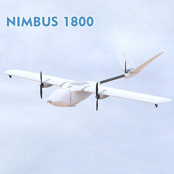 New Version EPO MyFlyDream MFD Nimbus 1800mm Long Range Dual-hair Fixed-wing UAV RC FPV Airplane KIT / PNP
