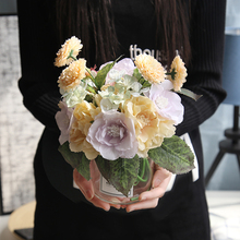 Artificial Flower Korean Bouquet Rose Home Decoration Wedding Holding Road Lead Wall Fake