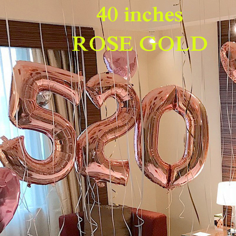 40INCHESNUMBERS ROSE GOLD
