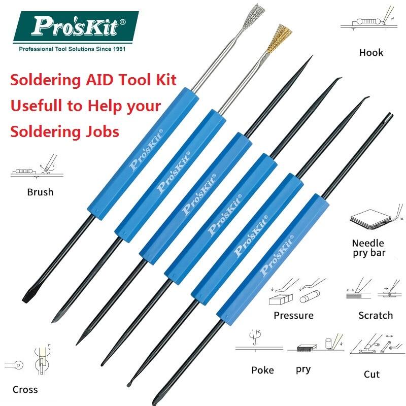 Herramientas de ayuda de soldadura ProsKit Ayuda Pinzas de soldadura Herramientas de asistencia auxiliar Kit de trabajo de soldadura de soldador DP-3616