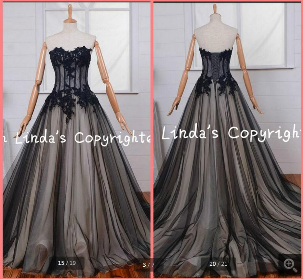 Free shipping 2016 black champagne appliques sexy   prom     dress   2016 court train real picture lace   prom   gowns attractive
