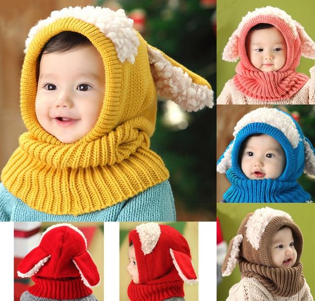 Малыш Обувь для девочек Обувь для мальчиков теплая шапка зимняя шапочка с капюшоном Шарф Earflap вязаная Кепки