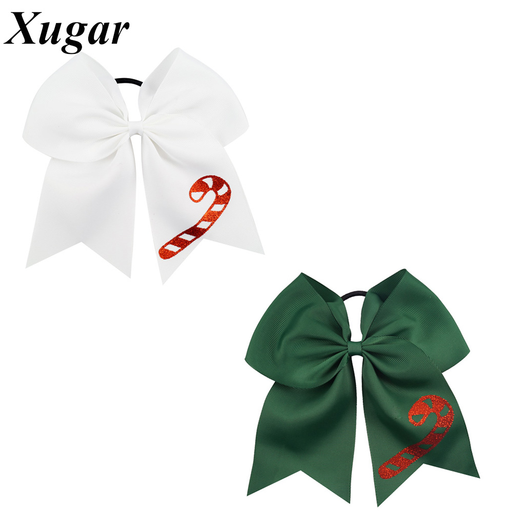 7'' High Quality Grosgrain Ribbon Cheer Bow For Cheerleading Girls Christmas Day Hair Accessories new product high quality grosgrain
