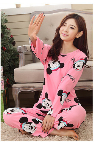 2018 New Women Cotton   Pajamas     Set   Homewear Sleepwear   Sets   Soft   Pajamas   Women Nightgown Fashion Style   Pajamas     Sets   New Arrivla
