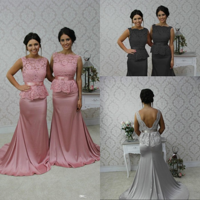 Grey And Pink Bridesmaid Dresses - Wedding Dress Ideas