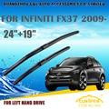 "Escovas Para INFINITI FX37 (2009-) 2010 2011 2012 2013 Car Windscreen Windshield Wiper Blade 24 ""+ 19"" acessórios de Carros estilo"