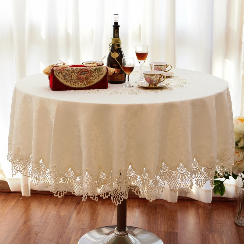 Dining Room Table Linens: Luxury Fashion Round Table Cloth Dining Table Cloth Lace