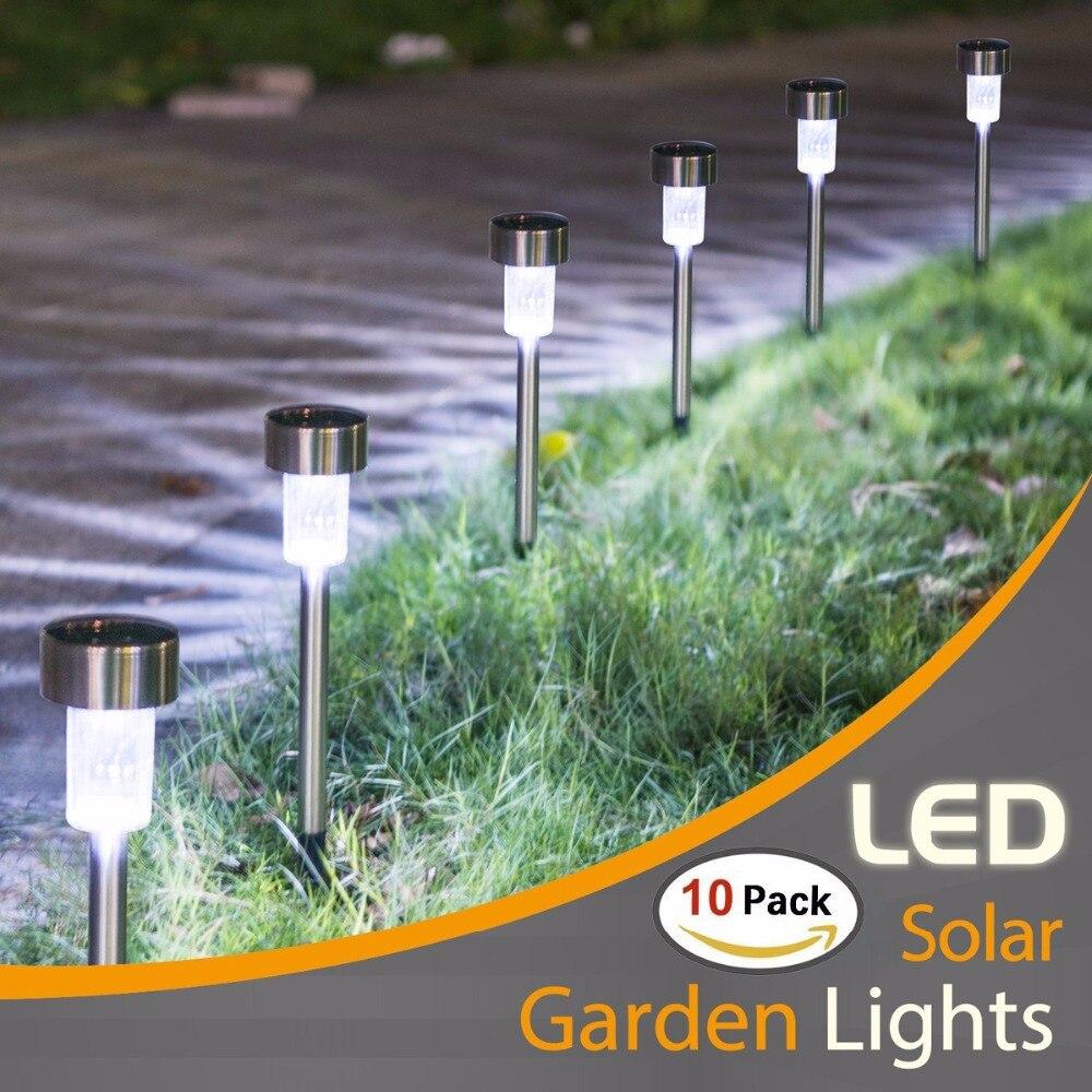 10PCS Solar Lights Outdoor- LED Solar Garden Pathway Light - Warm White/Multiple- Landscape Light For Lawn/Patio/Yard/Walkway