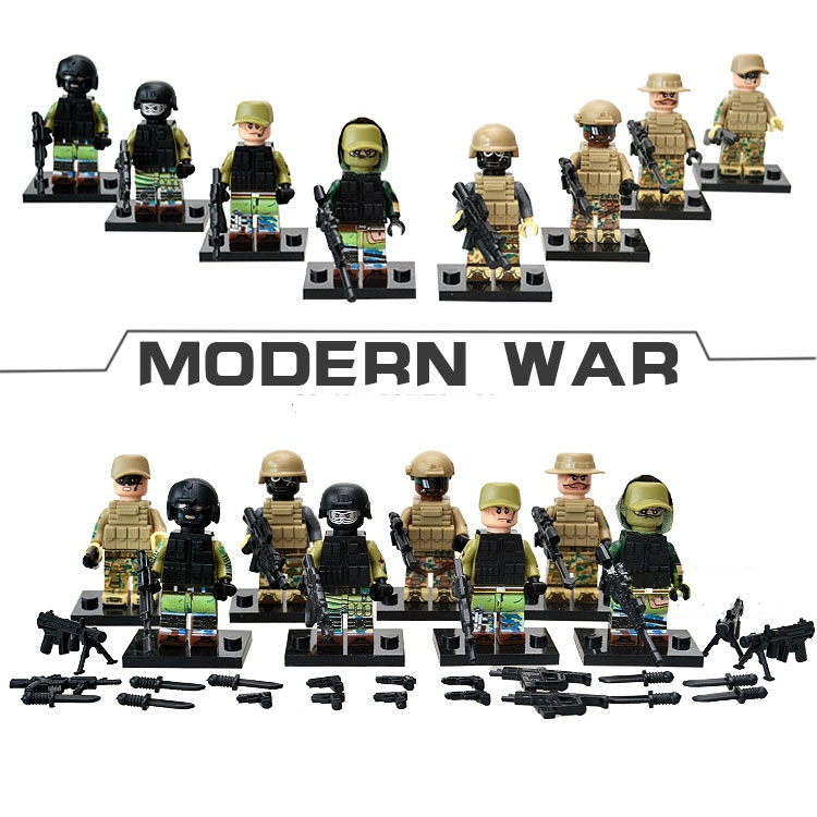 4pscet  Building Blocks Sets china brand Military building blocks special forces reconnaissanc compatible with Lego new fx3u 64ccl special function blocks