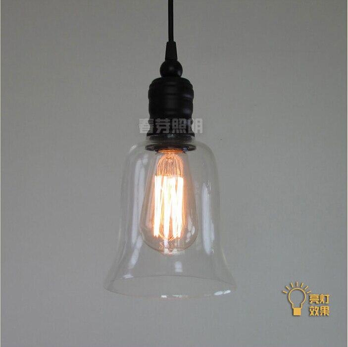 Nordic American country loft minimalist restaurant bar balcony aisle trumpet glass bell crystal chandelier lamp light lighting