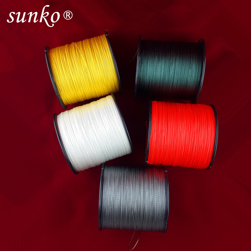 SUNKO Brand 300M 330Yards Multifilament PE Braided Fishing Line 8 10 16 22 30 40 50