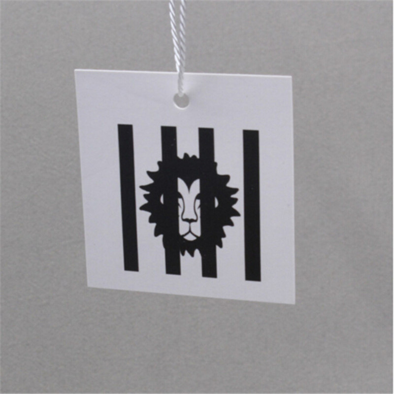 customized paper hang tag garment bag paper printed tags recycled garment clothing packaging labels 1000pcs lot
