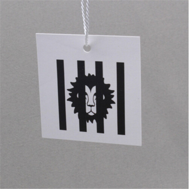 customized paper hang tag garment bag paper printed tags recycled