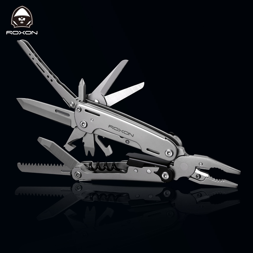 все цены на ROXON S801 outdoor multi tool 16 in 1 tactical pliers screwdrive camping survival equipment edc pocket tool self defense weapon онлайн