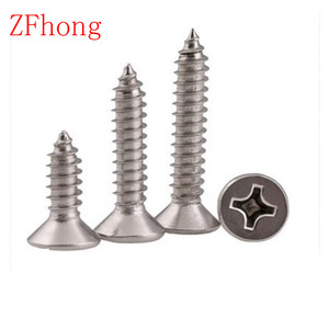 10-100pcs M1 M1.2 M1.4 M1.7 M2 M2.3 M2.6 M3 M4 M5 M6 Stainless steel Cross recessed countersunk head tapping screws Wood SCREW(China)